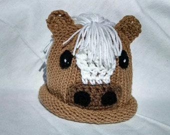Horse Hat newborn crochet hat baby boy girl knit hat crochet baby hat knit baby hat baby pony hat