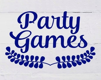 PARTY GAMES to match any invitation in my shop, digital, printable file