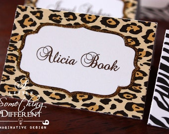 Animal Print - Zebra, Cheetah, Giraffe - Place Cards