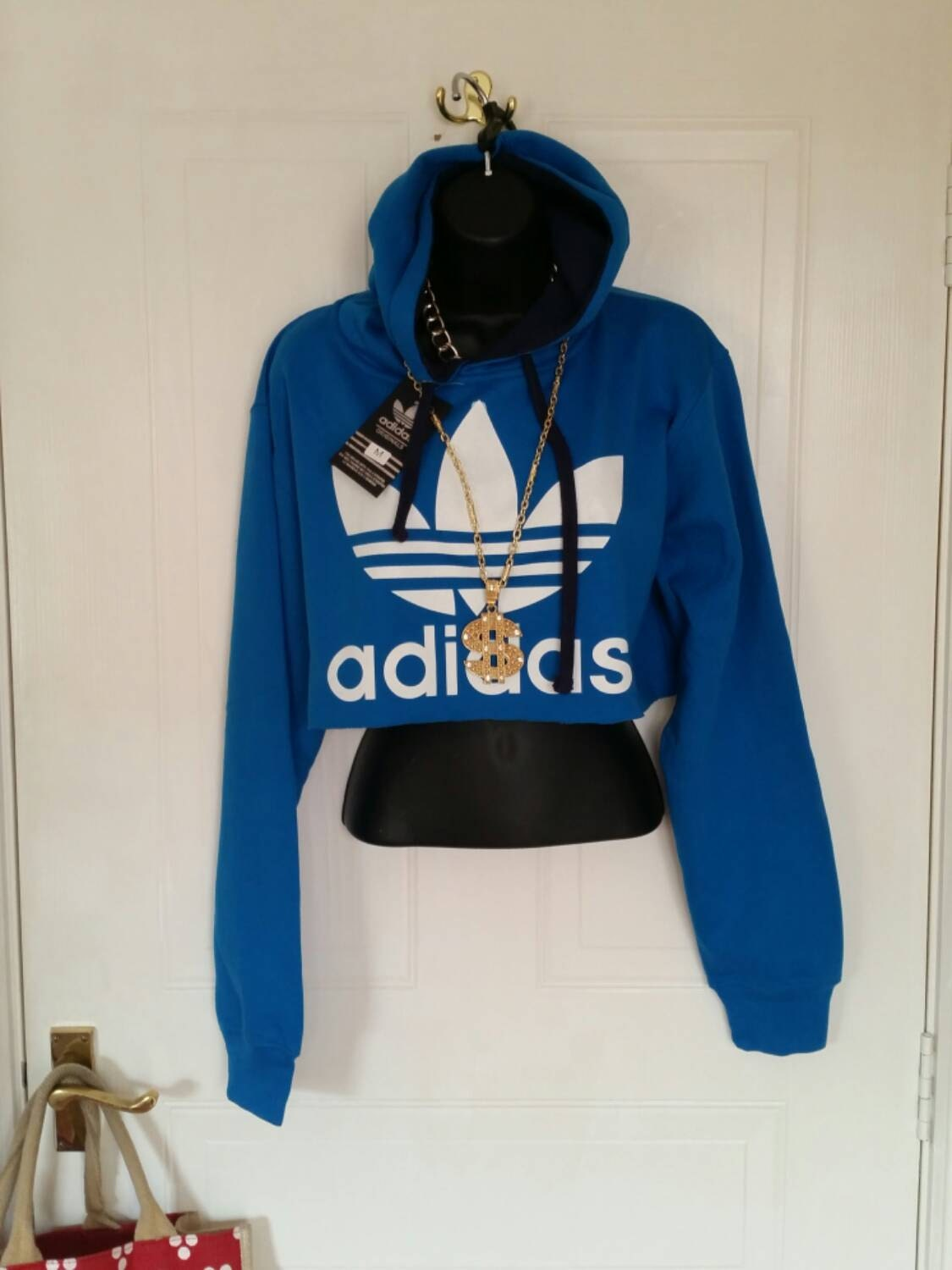 unisex customised adidas cropped hoodie jumper by mysticclothing. Black Bedroom Furniture Sets. Home Design Ideas