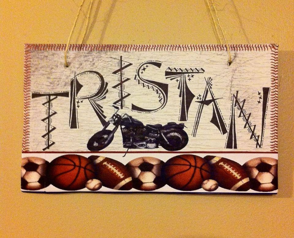 Hand Drawn Custom Wooden Name Plate by UptownMadison on Etsy