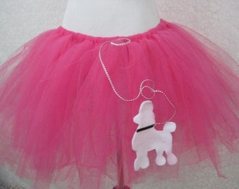 Adult Poodle Skirt Tutu, Party Tutu, Halloween Costume,Teen Tutu, Adult Tutu, Photo Prop