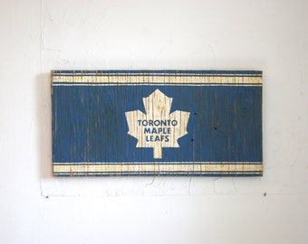 Toronto Maple Leafs Sign - wooden leafs flag - wood leafs sign - wood toronto sign - outdoor leafs sign - TML sign - TML flag - Toronto flag