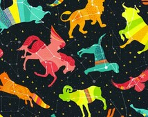 Popular items for constellation fabric on etsy for Celestial fleece fabric