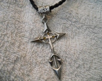 Leather rope CROSS Necklace