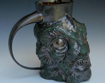 Swamp Creature Mug Ceramic Sculpture