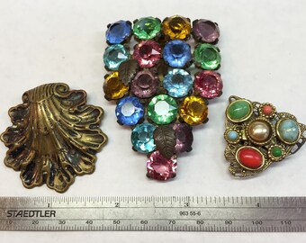Deco Rhinestone  Dress Clips