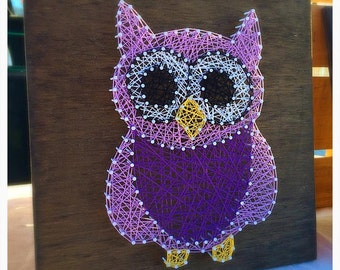 MADE TO ORDER Owl String Art, Nursery Decor, Nursery String Art, Baby Shower Gift