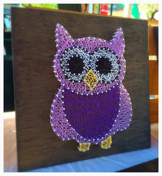 MADE TO ORDER Owl String Art, Nursery Decor, Nursery String Art, Baby Shower Gift