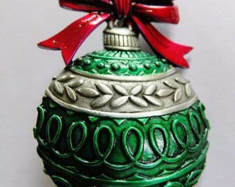JJ Jonette Large Festive Christmas Ornament Brooch Pin