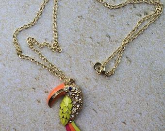 Neon Toucan Necklace