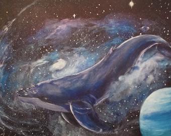 Space whale (Print)