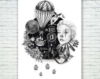 Its ok to be a little crazy - art print
