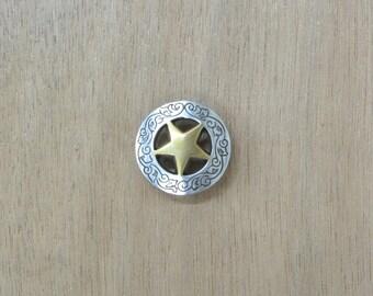"""Western Concho Engraved Cowboy Concho 3/4"""" Star 11568"""