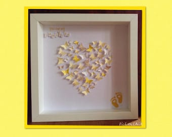 Heart of Butterflies Personalised Frame
