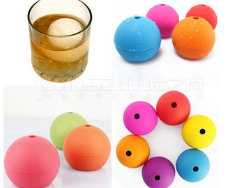 "Create your Flavors - DIY 2.5"" Silicone Ice Ball Maker Round Sphere Whiskey Wine Chil Chocolate Candy Soda Freeze Mold Mould"