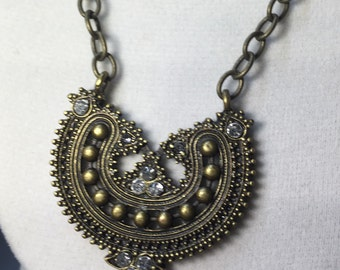 SALE** Jeweled Crown Necklace