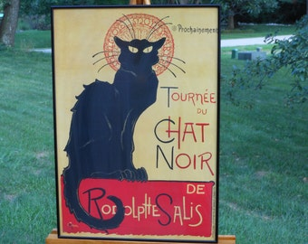 Framed Reproduction Lithograph of Steinlen's Tournee du Chat Noir