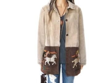 TAKE 40% OFF HORSES SouthWestern  Suede Jacket/ Coat/ M