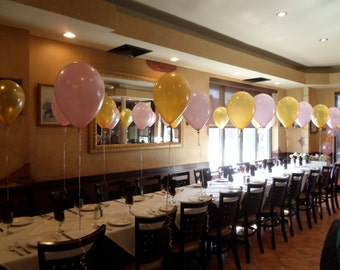Pink and Gold  Balloons Centerpiece Decoration-Set of 2 Latex