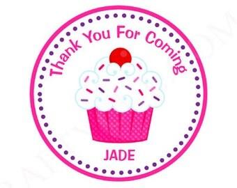 Cupcake Goody Bag Tags, Cupcake Favor Tags, Cupcake Birthday Favors