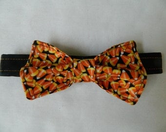 Halloween Candy Corn Dog Bow Tie
