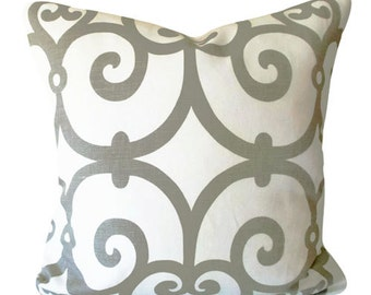 Schumacher Manor Gate Decorative Pillow Cover - Throw Pillow - Accent Pillow - Toss Pillow - Both Sides - 18x18, 20x20