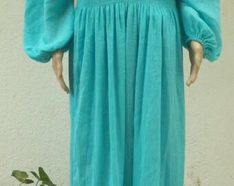 Women Gauze Summer Beach Boho Raglon Sleeves Dress, Plus size.