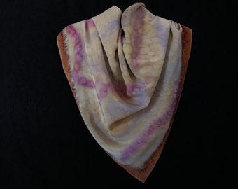 Autumn Rain - Handpainted Silk Scarf
