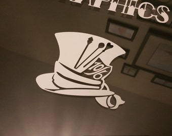 Mad Hatter Alice in Wonderland decal sticker