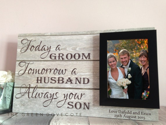 Wedding Gift From Parents To Son : Parents Wedding Gift , Today A Groom Forever Your Son , Parents Of The ...
