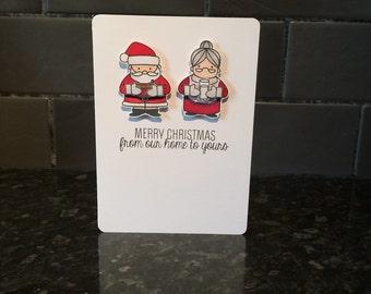 Christmas Card, Christmas, Holiday Card, Holiday, Santa Card