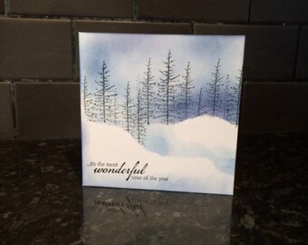 Christmas Card Pack, Christmas Tree Cards, Holiday Card, Xmas Card, Handmade holiday Card