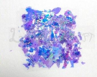 SeaShell Glitter Flakes, iridescent glitter, resin supplies, scrapbook supplies, scrapbooking, loose glitter