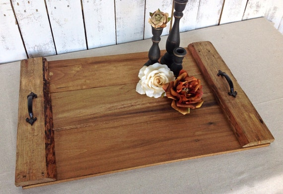 Serving Tray Rustic Wood Tray Rustic Home Decor