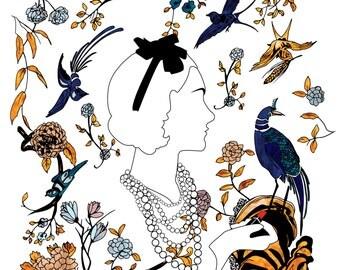 Gabrielle, Fashion Illustration Art Print