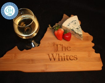 Virginia State Shaped Cutting Board Personalized Wedding Moving New Home House Housewarming Closing Unique Gift
