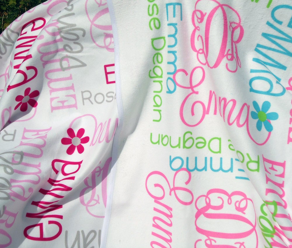 Baby Blanket Personalize with Name & Monogram by ...