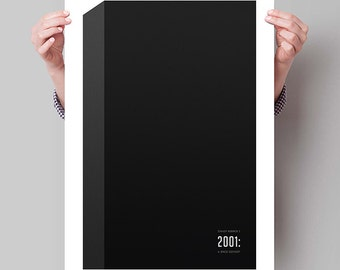 "2001: A SPACE ODYSSEY Inspired Monolith Minimalist Movie Poster Print - 13""x19"" (33x48 cm)"