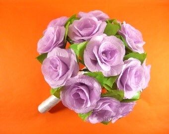 Purple Wedding Bouquet,Purple Bridal Bouquet,Purple Bridesmaid Bouquet,Purple Brooch Bouquet,Purple Silk Rose Bouquet,Purple Flower Bouquet