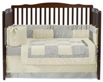 Crocodile Minky Crib Bedding Set