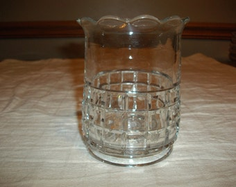 Vintage Glass Vase/Candle Jar