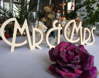 Art Deco  wedding sign Mr & Mrs.  Mr Mrs sign for wedding table decoration. Signage Mr and Mrs. Gatsby style sign