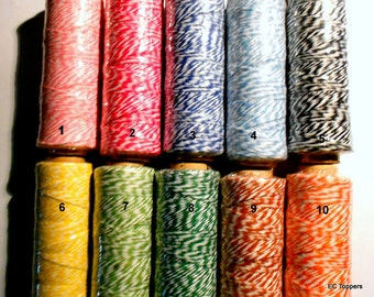 100 yd spool Bakers Twine/ Bakery String/ Thick Cotton String/ Wedding Favor Twine