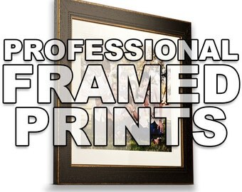 Professional Framing - Add to Any Print Order - Multiple Color and Mat Options