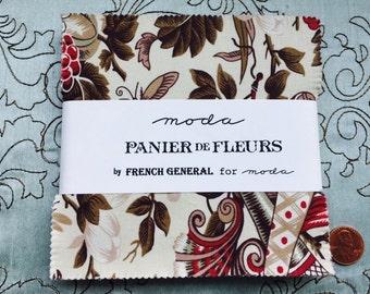 Panier de Fleurs by French General for Moda Fabrics - Charm Pack