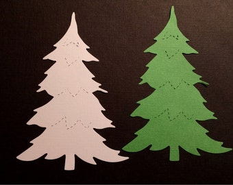 Diecut trees -- Set of 6