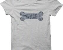 Dog Bone Unisex T-Shirt - Dog Shirt, Dog Breed Gift, Dog Art, Dog Lover, Pet Lover, Dog Mom