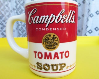 Vintage Campbell's Tomato Soup Mug 100% Soy Upcycled Container Candle - Unscented