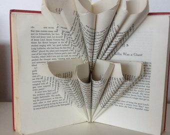 Folded book art - The Scarlett Tree